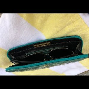 Mary Ann Rosenfeld Bags - Mary Ann Rosenfeld Snakeskin Leather Wallet